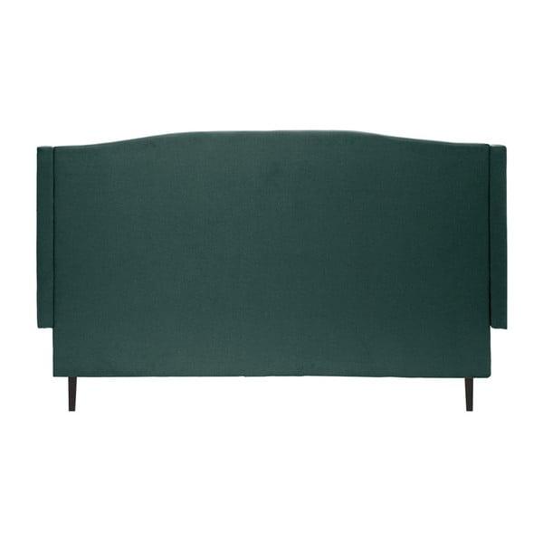 Petrolejově zelená postel s černými nohami Vivonita Windsor,160x200cm