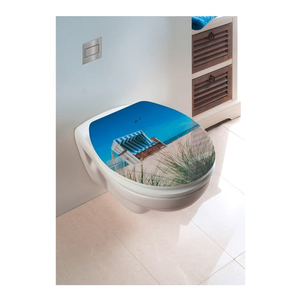 WC sedátko se snadným zavíráním Wenko Beach Chair, 45 x 38,8 cm