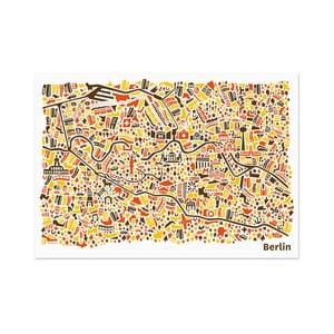 Nástěnná mapa Berlín, 70x50 cm