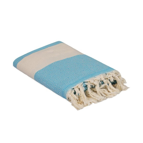 Turkusowy ręcznik Elmas, 180x100 cm