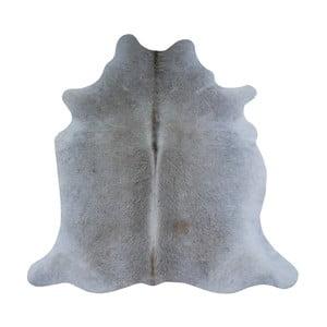 Šedý koberec z hovězí kůže, 195 x 170 cm