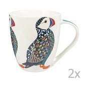 Sada 2 hrnků z kostního porcelánu Churchill China Paradise Puffin, 500 ml