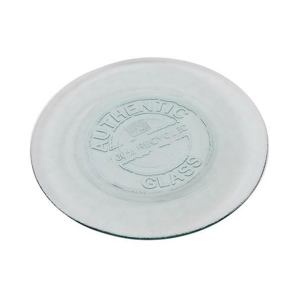 Sklenený tanier Antic Authentic Vintage, 20 cm
