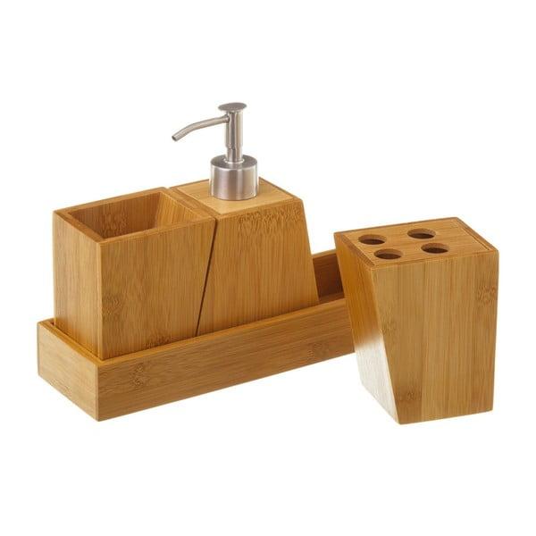 Set 4 accesorii pentru baie Unimasa Bamboo