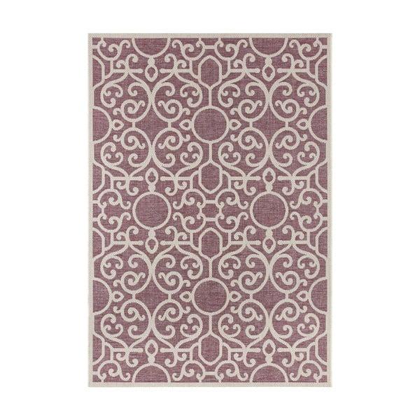 Fioletowo-beżowy dywan odpowiedni na zewnątrz Bougari Nebo, 160x230 cm