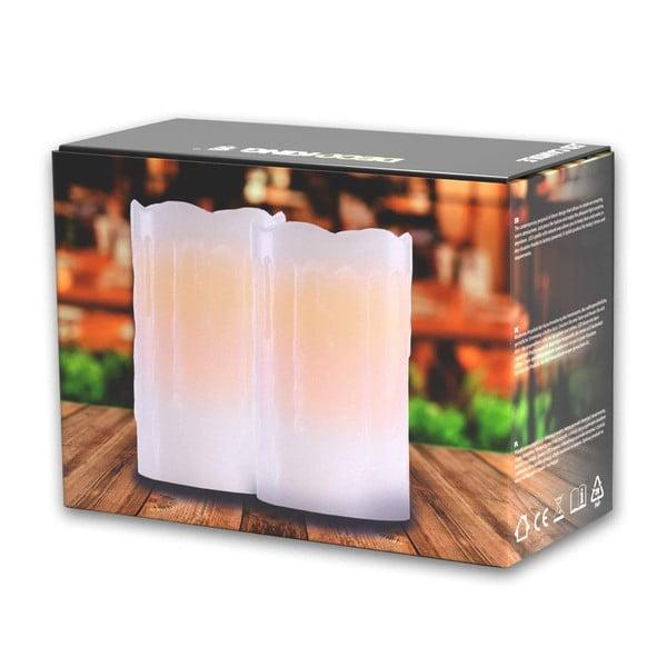 Sada 2 světelných svíček DecoKing Subtle Glamour