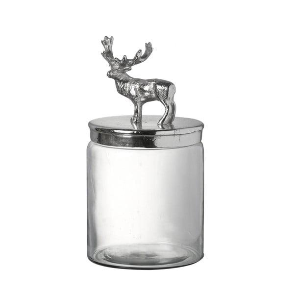Skleněná dóza s jelenem Stag, 29 cm