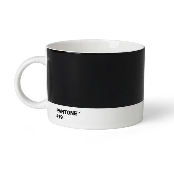 Čierny hrnček na čaj Pantone 419, 475 ml