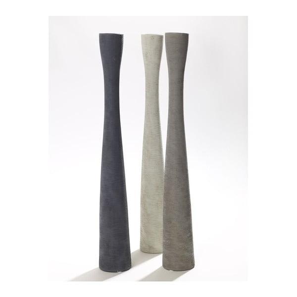 Sada 3 váz Silhouette Grey, 51 cm