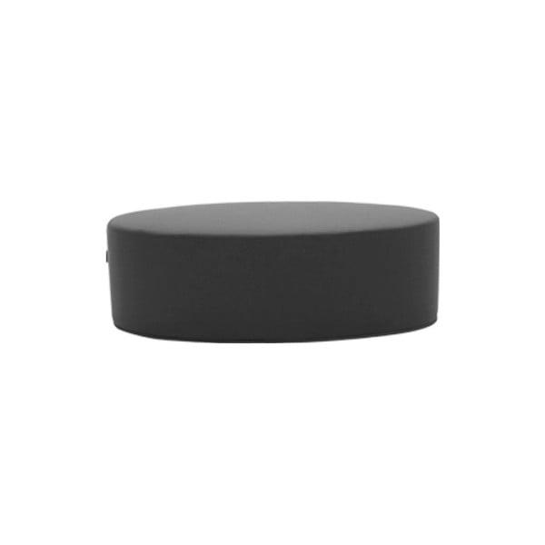 Tmavě šedý puf Softline Bon-Bon Felt Melange Grey, délka 120 cm