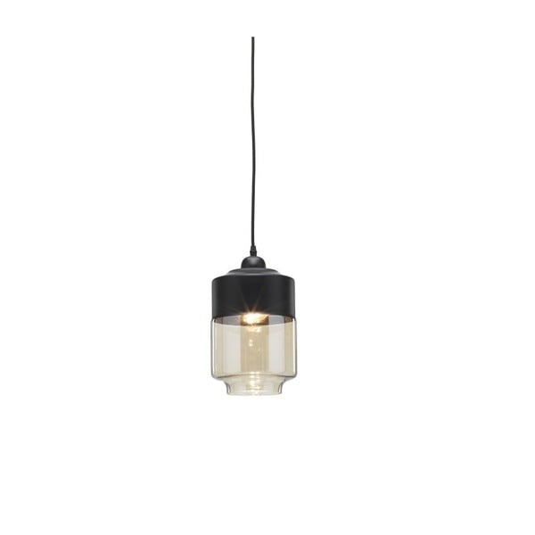 Čierne závesné svietidlo Design Twist Caracol Duo