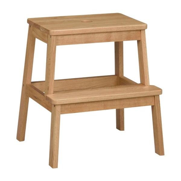 Přírodní dubová stolička/schůdky Folke Gorgona