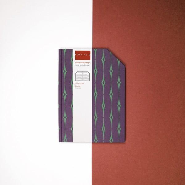 Ručně šitý linkovaný zápisník Calico Emral