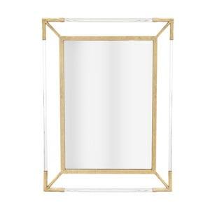 Nástěnné zrcadlo s detaily ve zlaté barvě InArt Henny