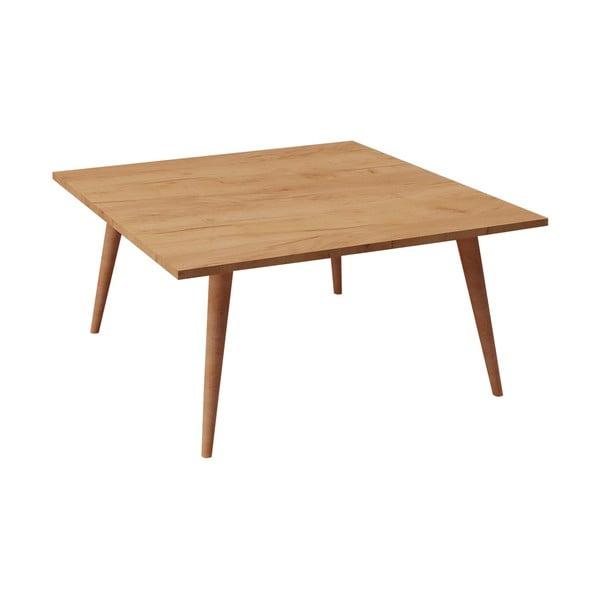 Konferenční stolek s dubovým dekorem Leyman, 80 x 80 cm