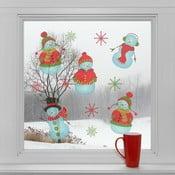 Elektrostatické vánoční samolepky Sněhuláci