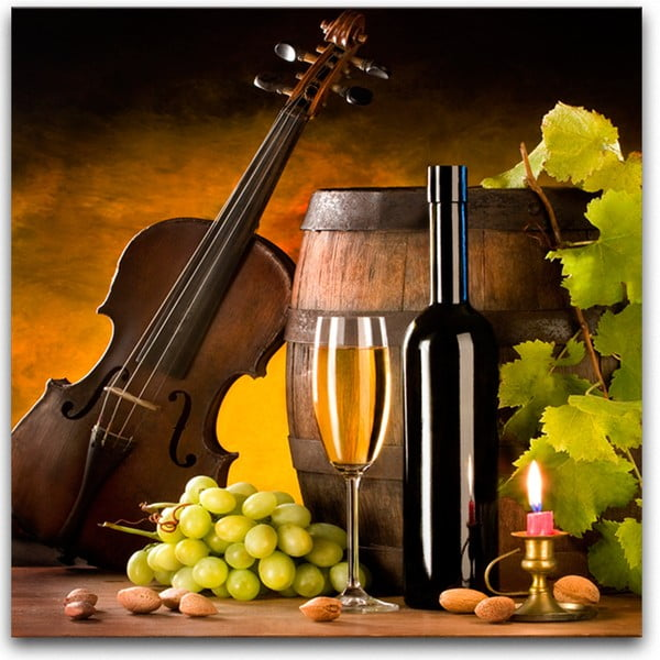Glasspik Wine III fali kép, 30 x 30 cm - Styler
