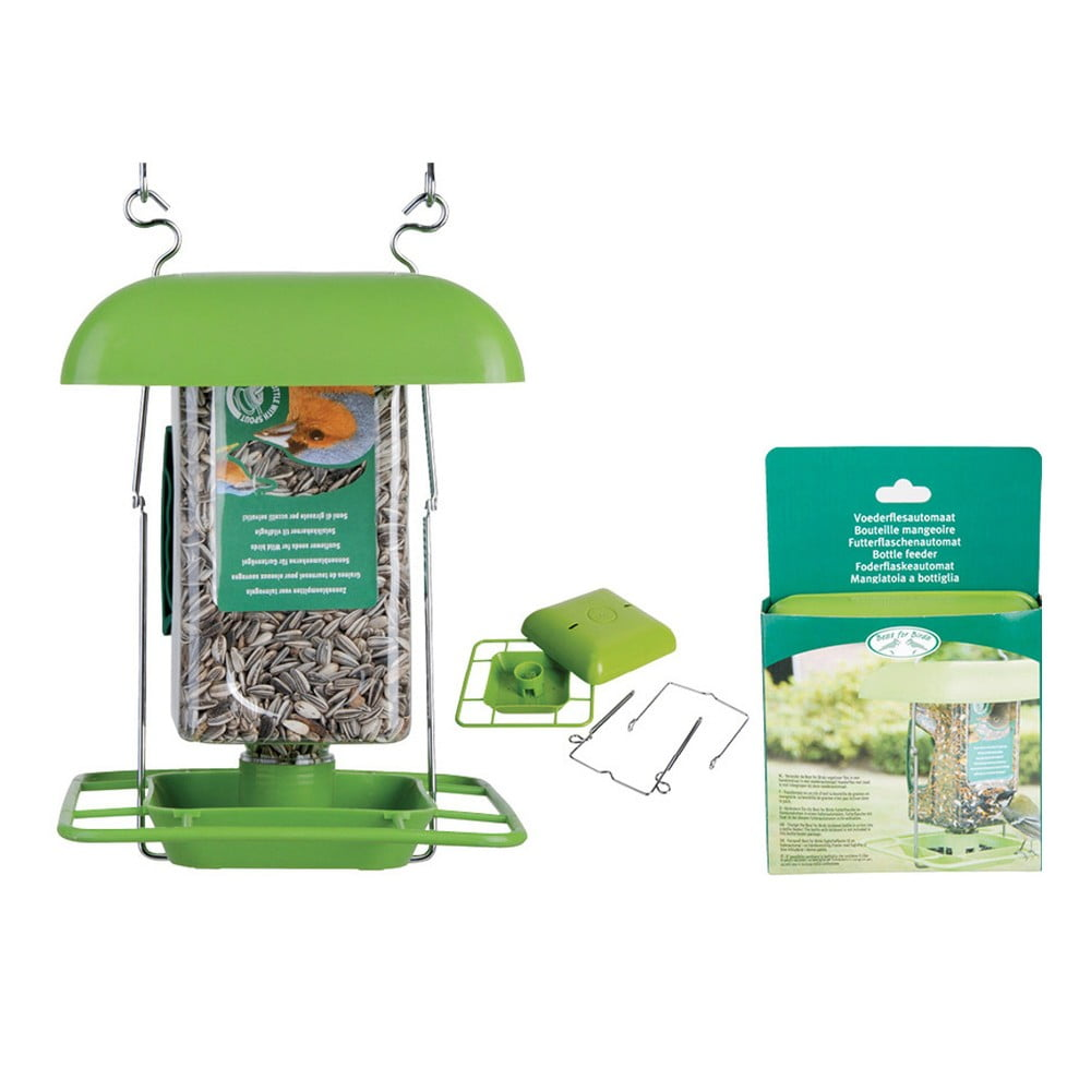 Zelený plastový závěs pro balení ptačího zobu Esschert Design, výška 29 cm