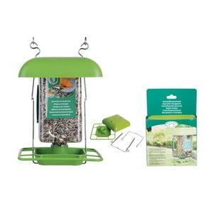 Zelený plastový závěs pro balení ptačího zobu Esschert Design, výška29cm