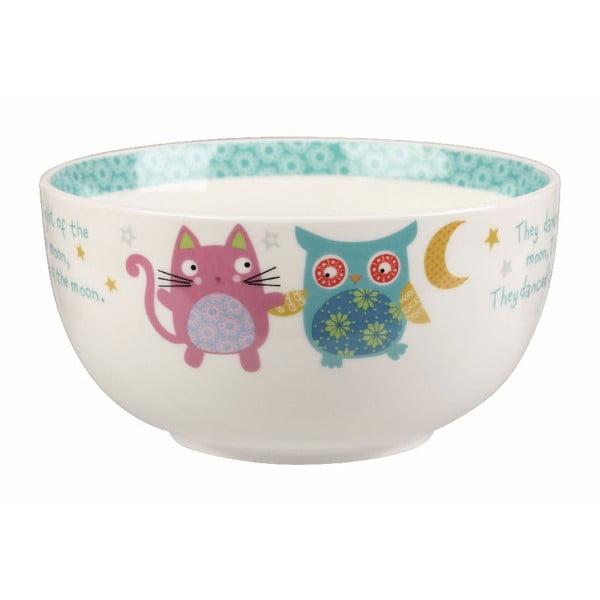 Snídaňový set v kufříku Owl & Cat