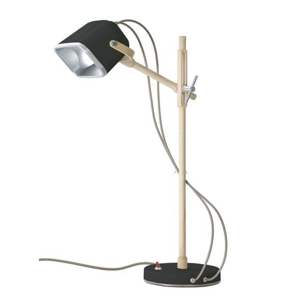 Stolní lampa Mob Wood, šedá