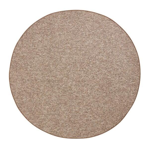 Wolly barna kerek szőnyeg, ⌀ 200 cm - BT Carpet