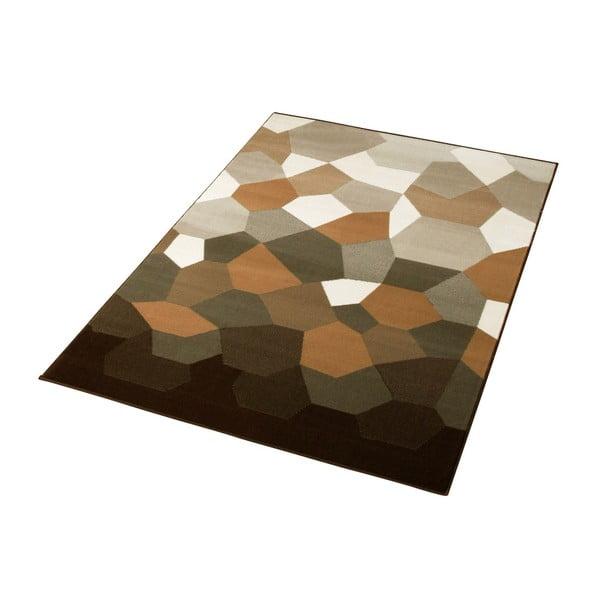 Hnědý koberec Prime Pile Abstract, 190x280 cm