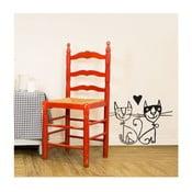 Samolepka Two cats 28x31 cm