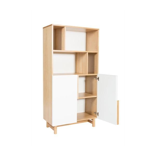 Knihovna z dubového dřeva s 2 dvířky Wermo Säre