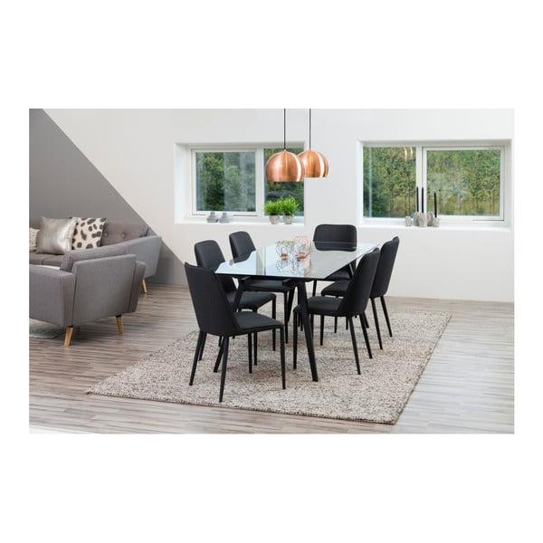 Sada 2 antracitově šedých jídelních židlí Actona Avanja
