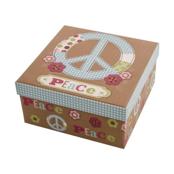Sada 3 úložných krabic Peace