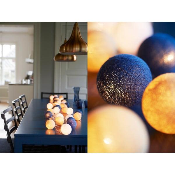 Svítící řetěz Irislights Nordic Blue, 20 světýlek