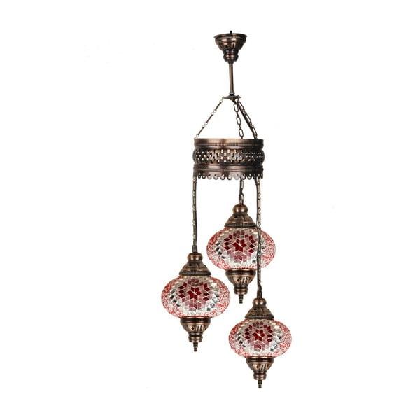 Skleněná závěsná lampa Three XVII, 17 cm