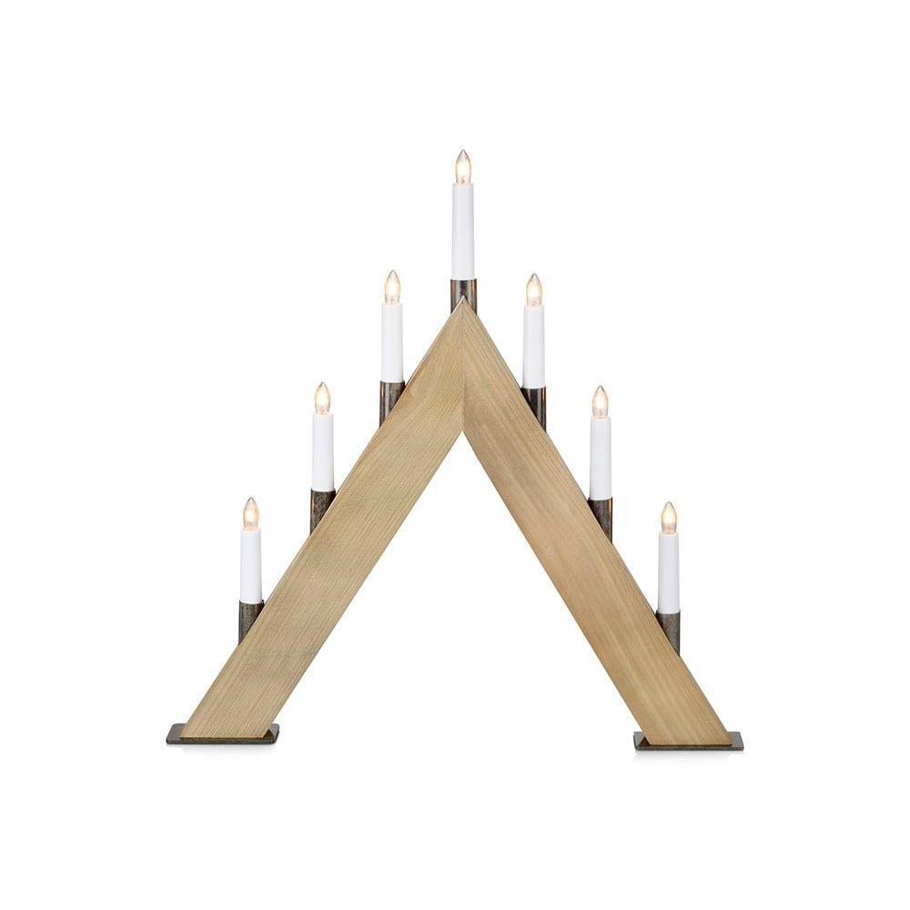Dřevěný LED svícen Markslöjd Stubb
