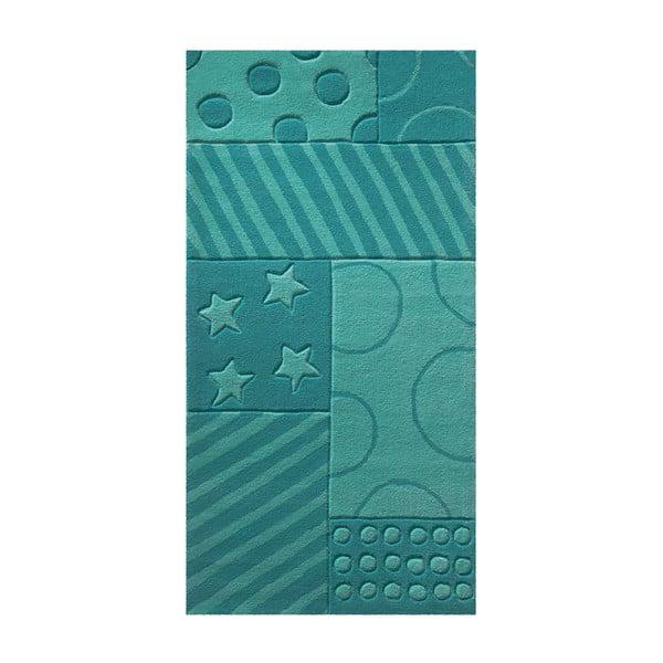Koberec Esprit Stars Stripes Turquoise, 120x180 cm