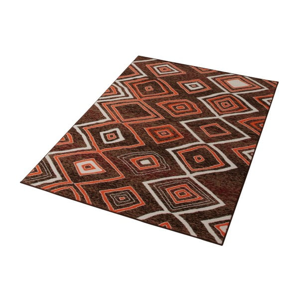 Hnědý koberec Prime Pile, 80x200 cm