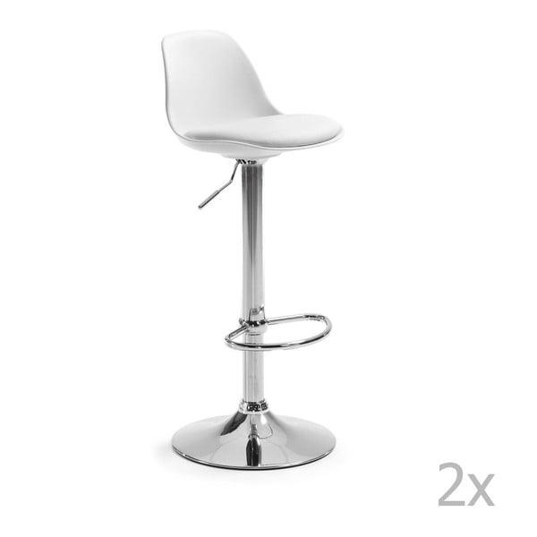 Sada 2 bílých barových židlí La Forma Orlando