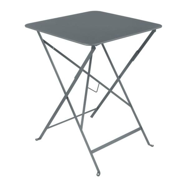 Šedý zahradní stolek Fermob Bistro, 57 x 57 cm