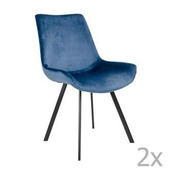 Set 2 scaune House Nordic Drammen, albastru
