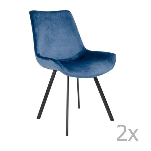 Drammen 2 db-os kék étkezőszék készlet - House Nordic