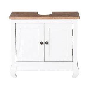 Bílá skříňka pod umyvadlo z akáciového dřeva Woodking Kimberly