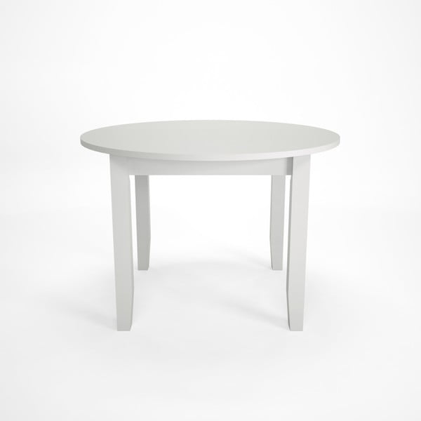 Bílý jídelní rozkládací stůl z bukového dřeva Artemob Lass, Ø 110 x 75 cm