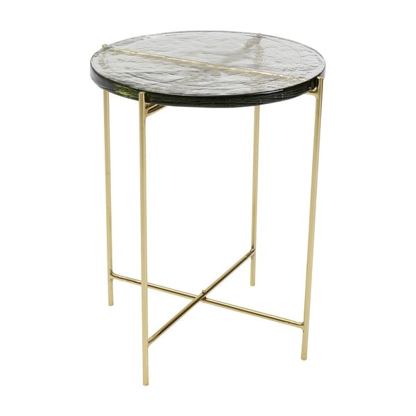 Odkládací stolek ve zlaté barvě Kare Design Ice, ø 40 cm