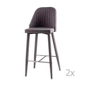 Sada 2 světle šedých barových židlí sømcasa Cassie