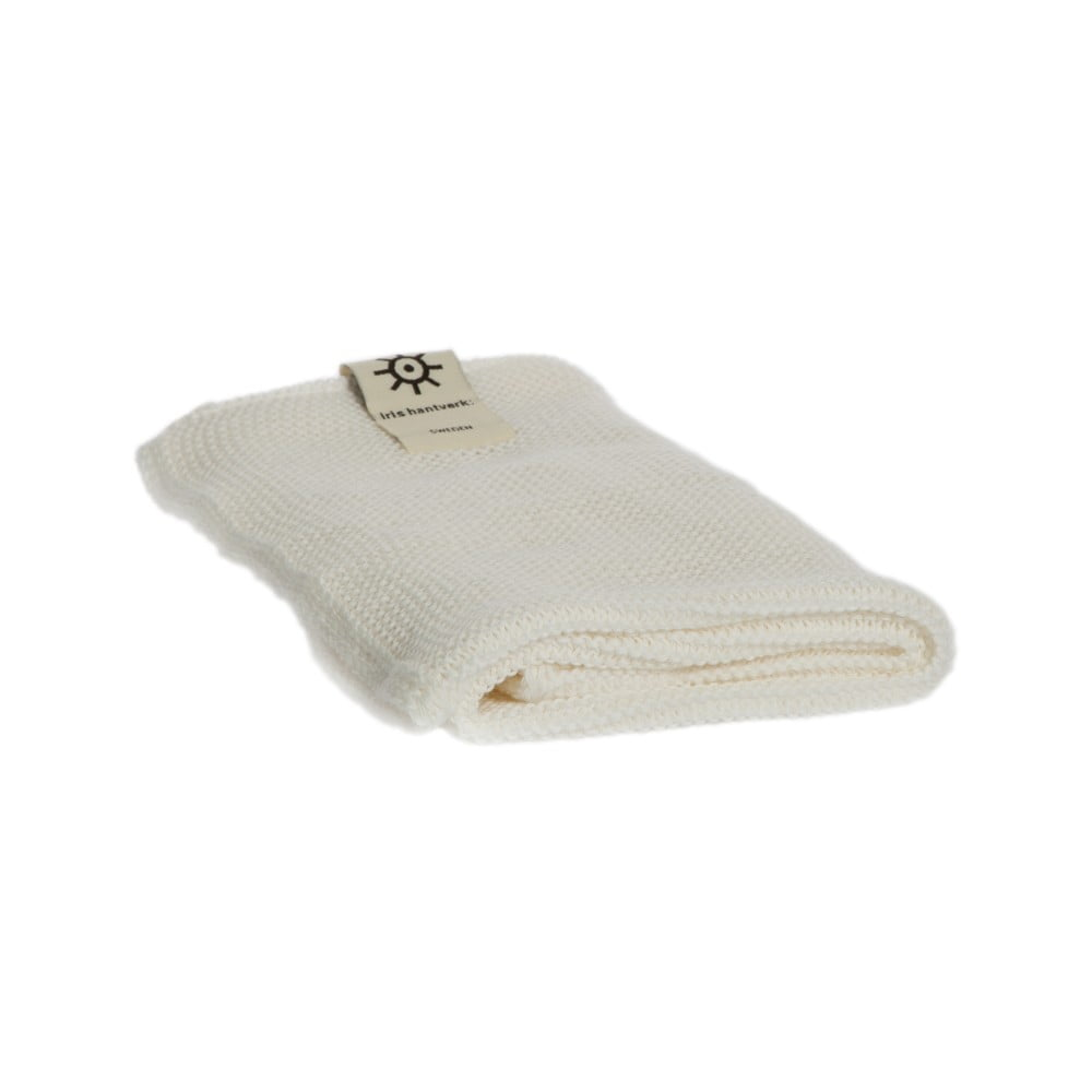 Bílý ručník z eko bavlny Iris Hantverk, 45x50cm