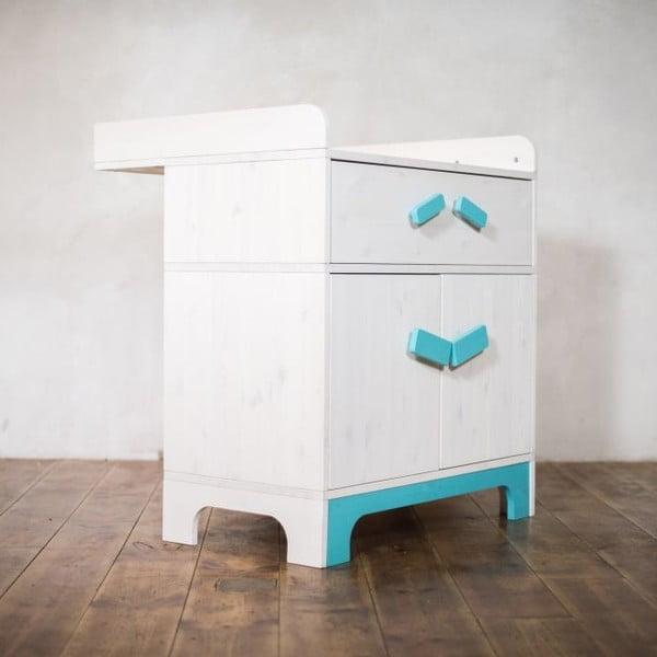 Přebalovací pult s úložným prostorem Emo Blue