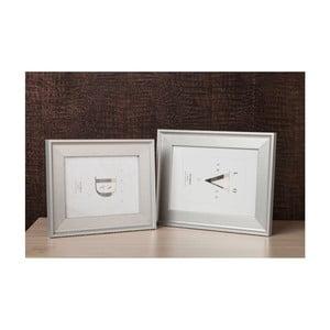 Světle šedý rámeček na fotografii Styler London, 40x50cm