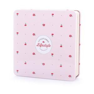 Plechový zápisník Spring, světle růžový