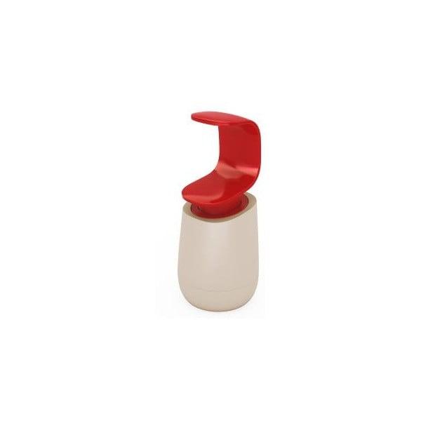 Dávkovač mýdla, C-pump, šedý/červený
