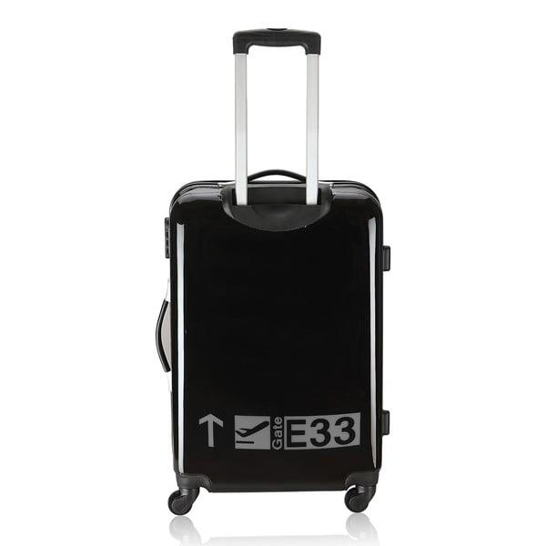 Sada 3 cestovních zavazadel Cadenas Black and Grey